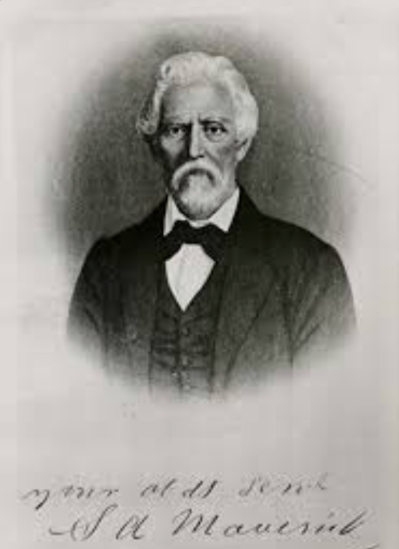 """Samuel Augustus Maverick (July 23, 1803 – September 2, 1870) was a Texas lawyer, politician, land baron and signer of the Texas Declaration of Independence. His name is the source of the term """"maverick,"""" first cited in 1867, which means """"independently minded."""""""